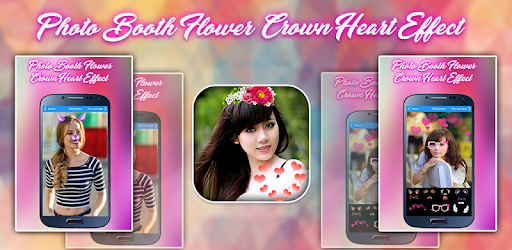 Photo Booth Flower Crown Heart Effect - Crownify on Windows