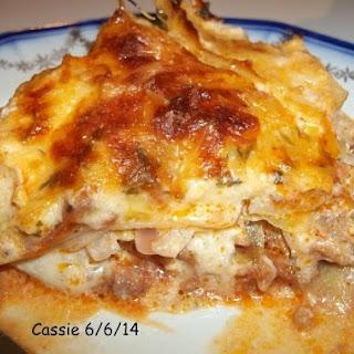 Layered Cabbage, Potato and Sausage Casserole.