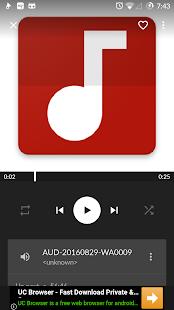 OreoMusicPlayer - náhled