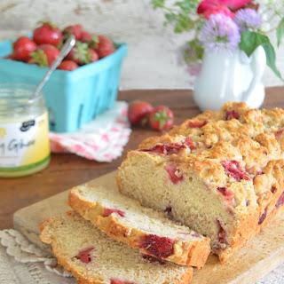 Strawberry Quick Bread, vegan