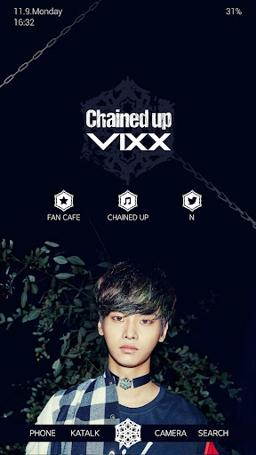 VIXX Chained up 버즈런처 테마 홈팩