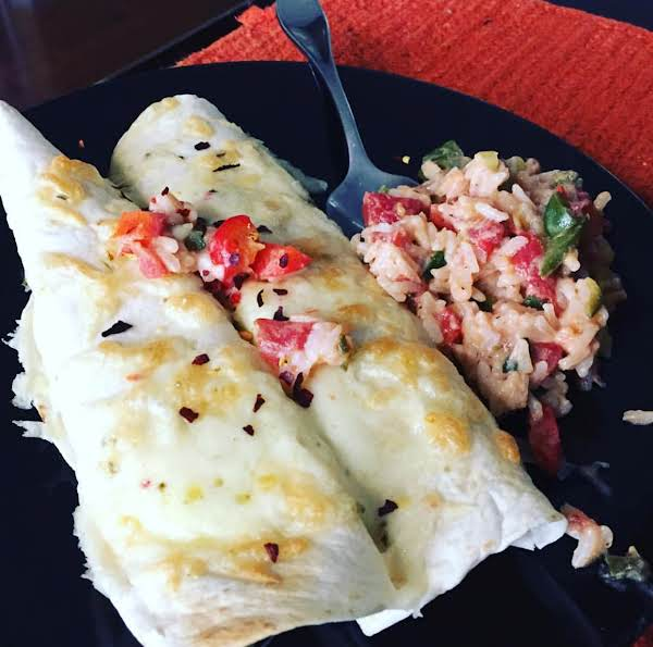 Brown Rice Rollup With A Little On The Side!