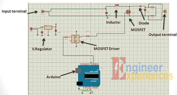 complete Circuit diagram of solar based battery charger