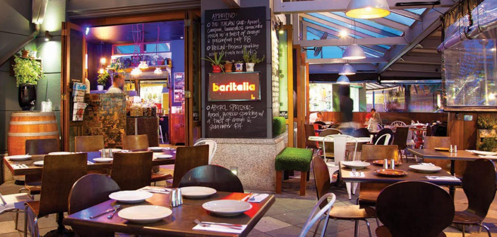 Baritalia Restaurant offers Italian cuisine with a difference.