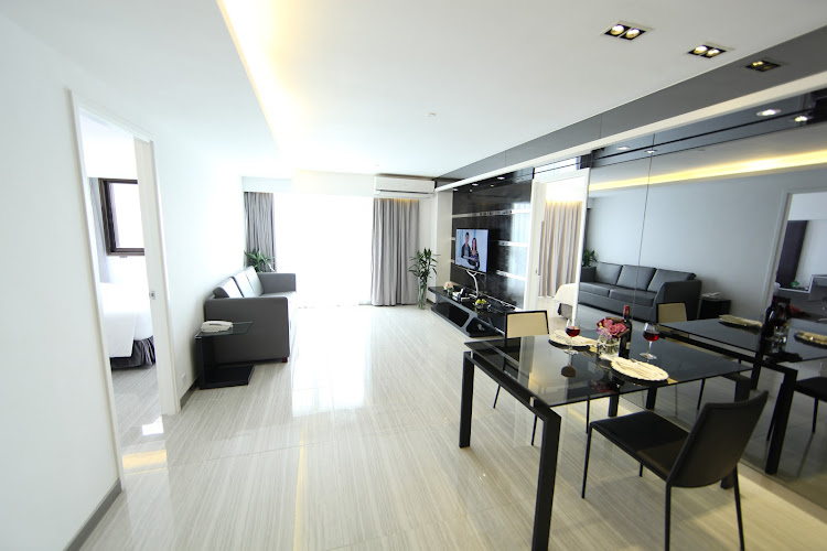 Living area at Charasmatic & Central Apartments in Sheung Wan, Hong Kong