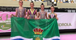 Las gimnastas desplazadas al evento nacional.