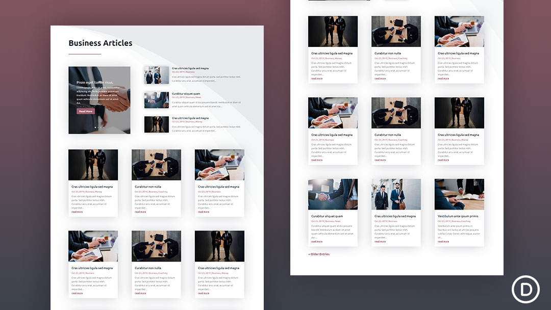 Category Page Divi Template