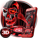 3D Tech Blood Skull Theme icon