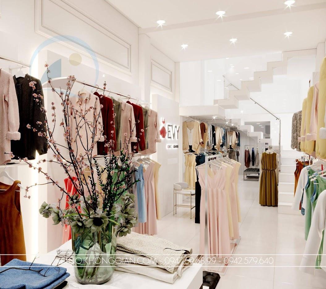 giá kệ thời trang giữa nhà