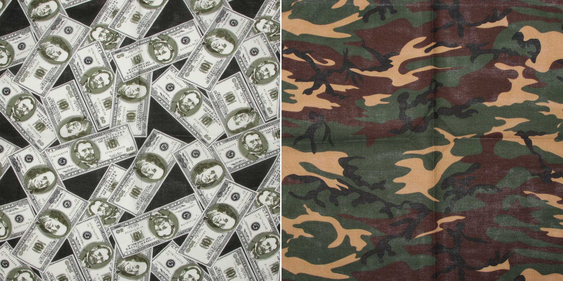 100% cotton print bandanas Image