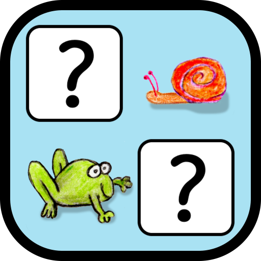 Crayon Pairs - memo-game with animated animals
