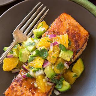 Honey Glazed Salmon with Citrus Avocado Salsa