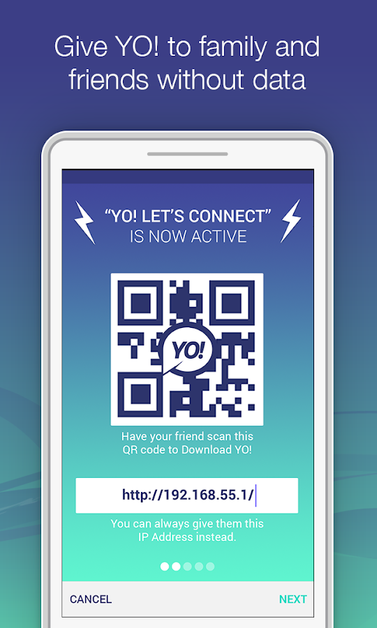 YO! - Chat & Share over WiFi- screenshot