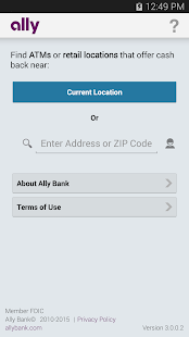 Ally's ATM & Cash Locator- screenshot thumbnail