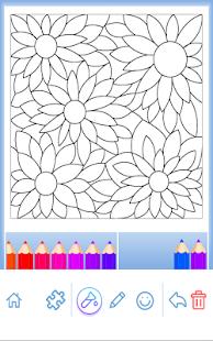 Красящие взрослые: Цветы Screenshot