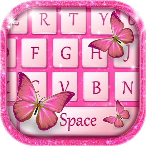 Butterfly Pink Keyboard Theme