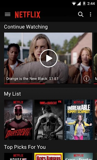 Screenshot 0 for Netflix's Android app'