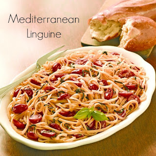 Mediterranean Linguine Recipe with Basil and Tomatoes