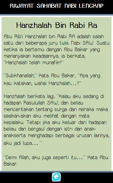 Kisah Para Sahabat Nabi Muhammad Android Alkalmazások