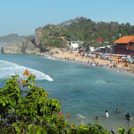 Indrayanti beach by Iswasta Eka - City,  Street & Park  Vistas ( #indrayanti, #gunungkidul, #yogyakarta, #beach )