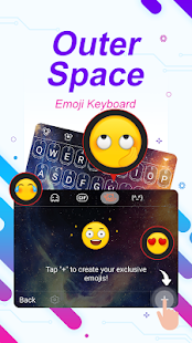 Outer Space Star Theme&Emoji Keyboard - náhled
