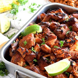 Oven Baked Brown Sugar Spiced Pork Carnitas.