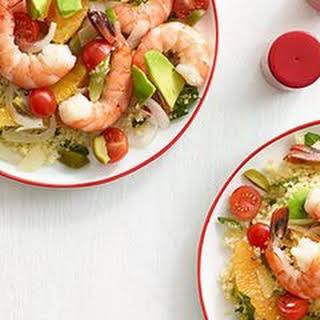 Zesty Shrimp Salad with Couscous.
