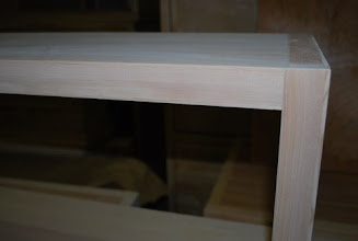 Photo: This bench was manufactured using our patented Sing Honeycomb sandwich panels, makes an elegant front entry bench