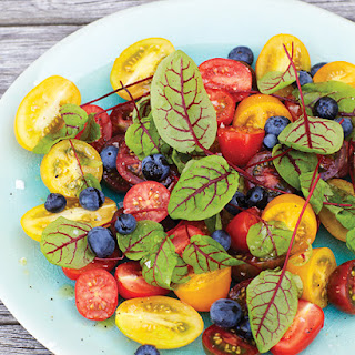 Tomato & Blueberry Salad.