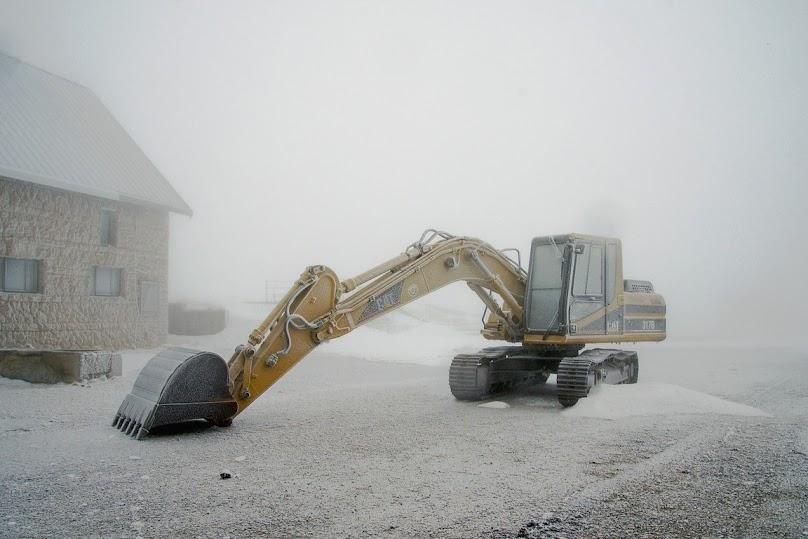 Zima na budowie