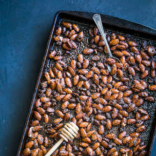 Honey Sriracha Roasted Almonds.