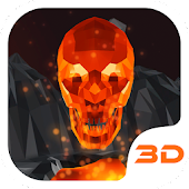 Flaming Skull 3D Theme