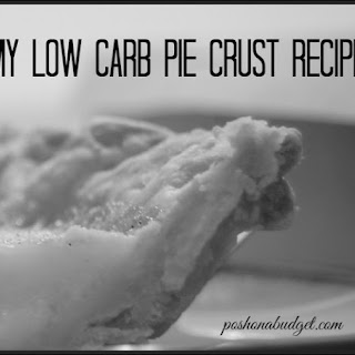 My Low Carb Pie Crust