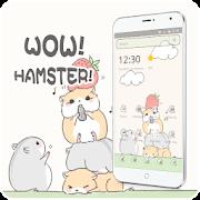 Cute Cartoon Hamster Nut Theme