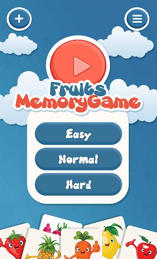水果为孩子们的记忆游戏