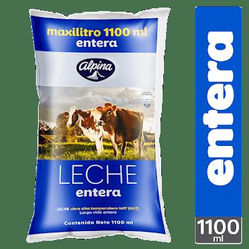 LECHE ALPINA ENTERA   MAXILITRO X1.1LT