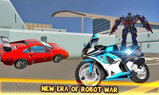 Moto Robot Fight: Futuristic War Robots Transform 1.1 screenshots 1