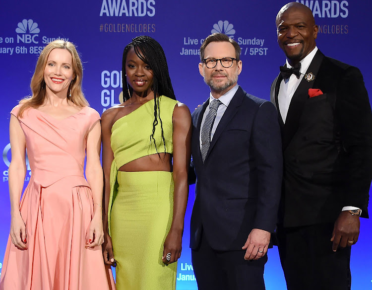 Leslie Mann, Danai Gurira, Christian Slater, and Terry Crews attend the 76th Annual Golden Globe Nominations Announcement