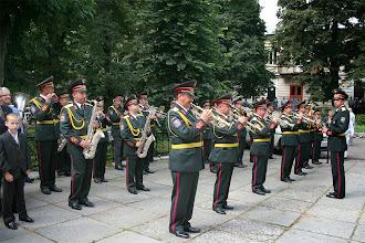 Photo: Військовий оркестр вітає гостей