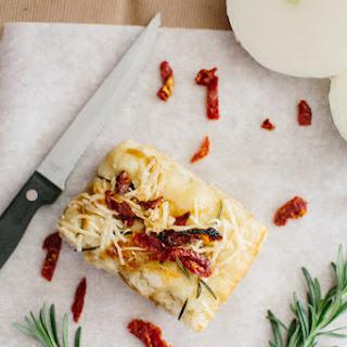 Sun-dried Tomato, Onion, and Rosemary Focaccia Bread.