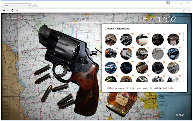 Guns Wallpapers HD New Tab by freeaddon.com
