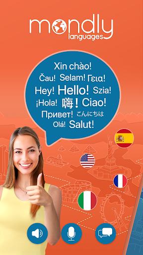 Learn 33 Languages Free - Mondly screenshot 1