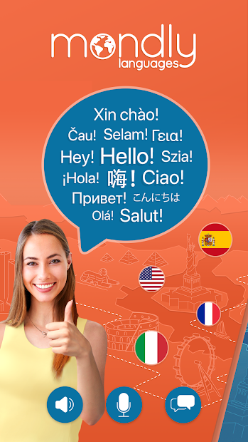 Learn 33 Languages Free - Mondly Android App Screenshot