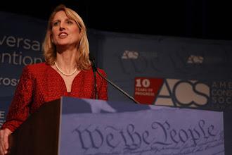 Photo: ACS Executive Director Caroline Fredrickson addresses the entire Convention.