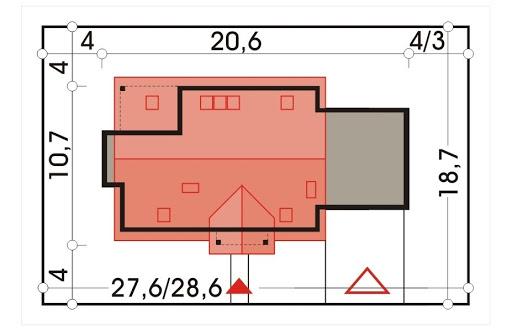 Ada wersja B z podwójnym garażem - Sytuacja