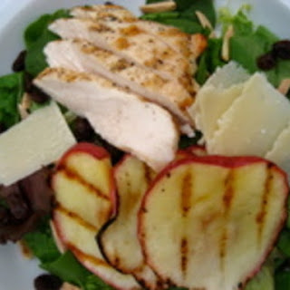 Grilled Apple and Chicken Salad with Cider-Maple Vinaigrette.