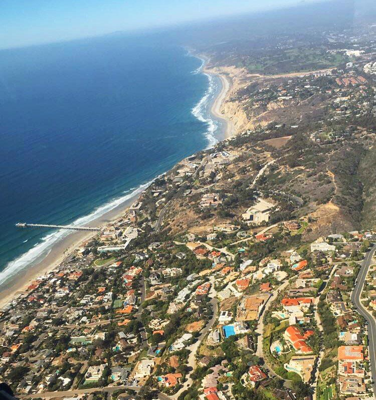 Flying above the coastline en route to La Jolla.
