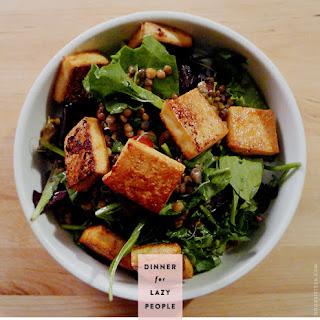 Tofu Lentil Salad (vegan).