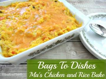 Maâ??s Rice and Veggie Bake ~Bags To Dishes~