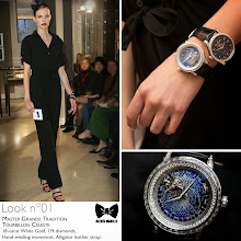 Photo: Seen at #JLCandAlexisMabille fashion show: the Master Grande Tradition Tourbillon Céleste watch.   Technical details: 18-carat White Gold, 174 diamonds, Hand-winding movement, Alligator leather strap.  Reference: 5073401  More looks at: http://bit.ly/1eJ1YKh